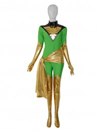 Jean Grey X-men Marvel Green Female Superhero Costume