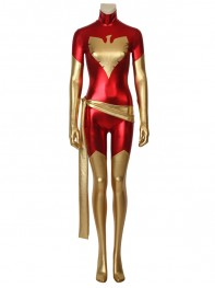 Dark Phoenix Suit Red X-Men Shiny Metallic Cosplay Costume