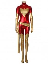 Dark Phoenix Suit Red X-Men Shiny Metallic Cosplay Costume