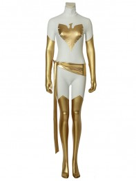 X-Men White Phoenix Shiny Metallic Cosplay Costume