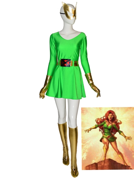 Phoenix Cosutme X-Men Jean Grey Halloween Superhero Costume