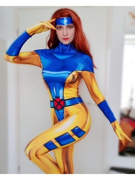 Phoenix Costume 90's X-Men Jean Grey Cosplay Suit