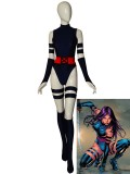 Navy Blue Psylocke Suit X-men Cosplay Costume