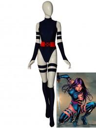 Navy Blue Psylocke Suit X-men Cosplay Costume