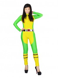 X-Men Rogue Spandex Superhero Costume No Feet