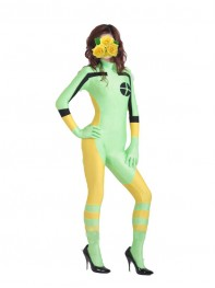 Light Green & Yellow X-Men Rogue Spandex Superhero Costume