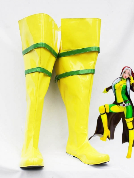 Yellow & Green X-men Rogue Cosplay Boots