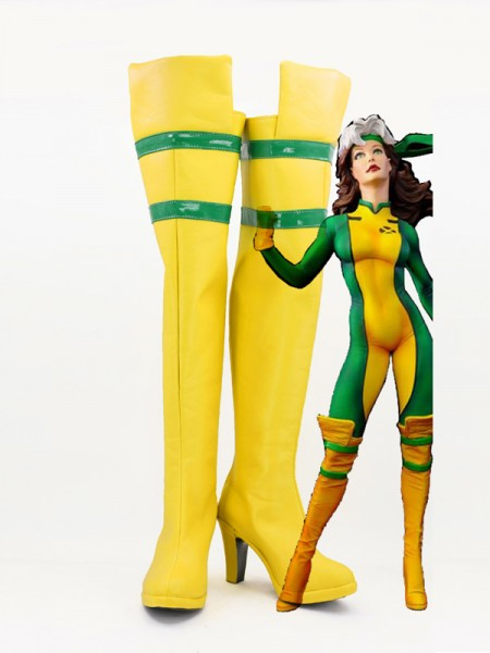 X-men Rogue Girls High Heels Superhero Cosplay Boots