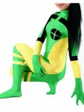 Green & Yellow X-men Rogue Superhero Costume