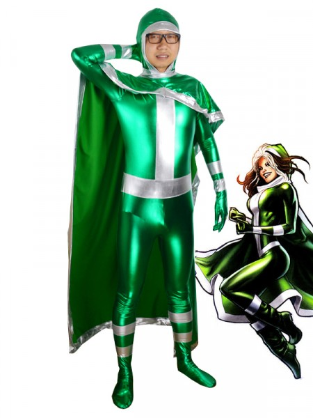 New X-men Rogue Green Superhero Costume