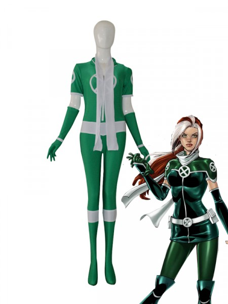 New Style X-men Rogue Green Custom Superhero Costume