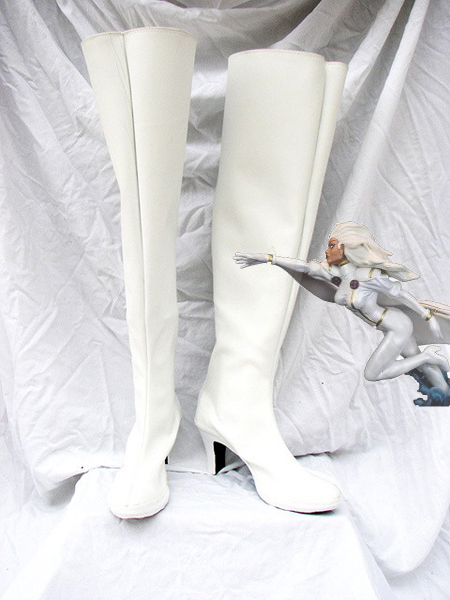 X-men White Storm Superhero Boots