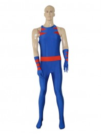 Royal Blue Wolverine Custmom Superhero Jumpsuit