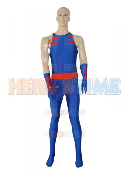 Royal Blue Wolverine Custmom Superhero Jumpsuit