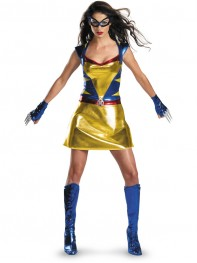 Sexy Wild Thing Shiny Metallic Superhero Costume