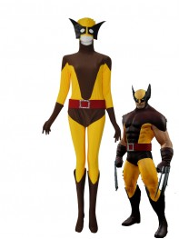 Wolverine X-men Yellow & Brown Superhero Costume