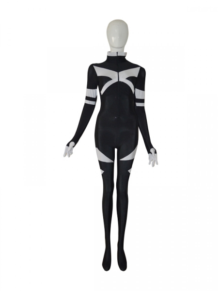 X-men Black & White Custom Superhero Costume