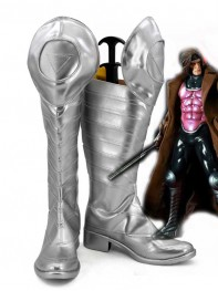 X-men Gambit Sliver Mens Cosplay Boots
