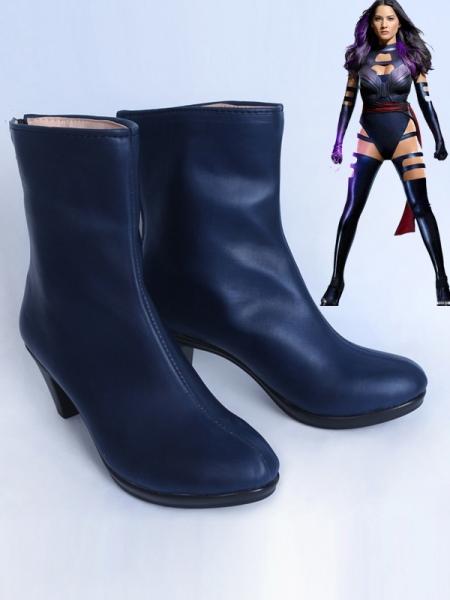 X-men Psylocke Girls Navy Blue Cosplay Boots