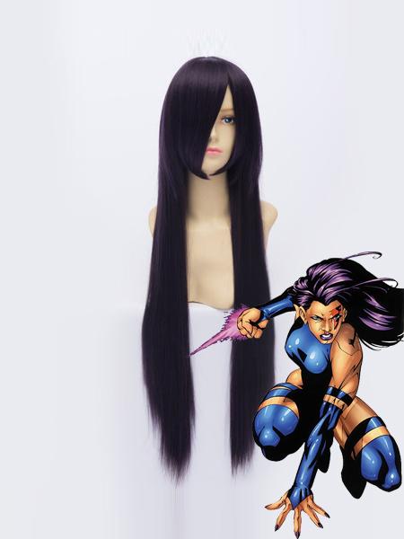 X-men Psylocke Purple Superhero Wig