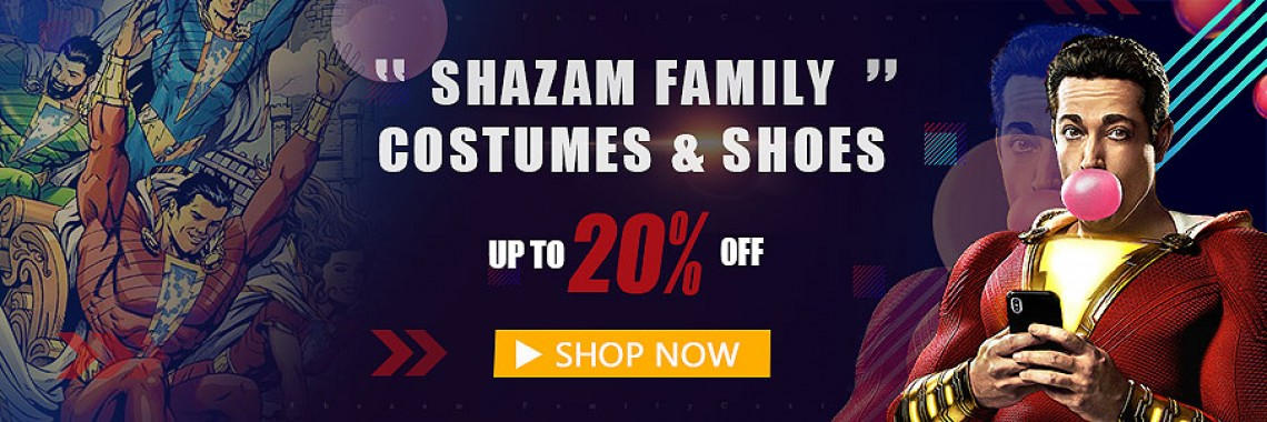 2019 Shazam Family Movie Costumes