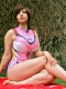 EVA Mari Makinami Illustrious Spandex Cosplay Swimsuit