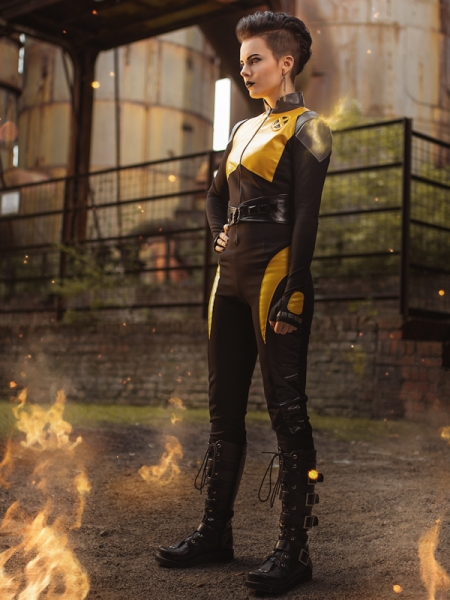 Deadpool 2  Traje Lujoso de Negasonic Teenage Warhead Cosplay