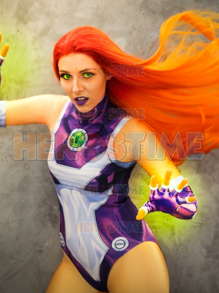 2018 Estilo Nuevo Traje de Starfire de Teen Titans en Impresión