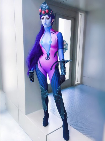 Widowmaker Costume Overwatch Game Girl Cosplay Suit