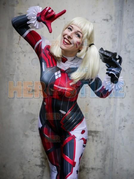 Disfraz Mixto de Harley Quinn y D.VA Cosplay
