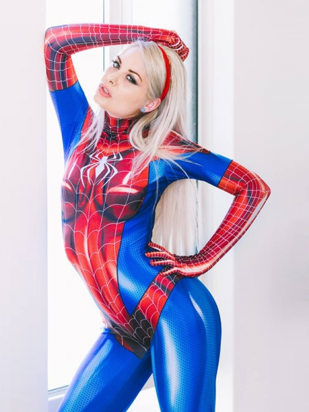 Jamie Spider Costume Mary Jane Girl Cosplay Suit Adult & Kid Size