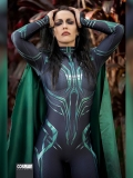 Hela of Thor: Ragnarok Printing Cosplay Costume With Cape