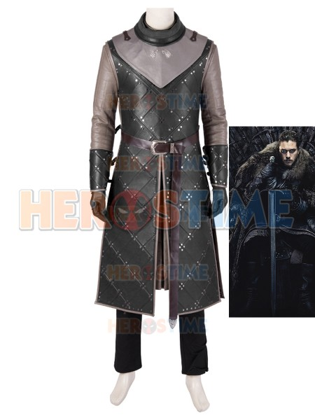 Jon Snow Cosplay Costume Game of Thrones Season 8 Cosplay Suit