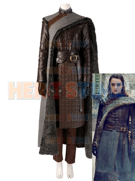 Game of Thrones Season 8 Cosplay Arya Stark Cosplay Costume