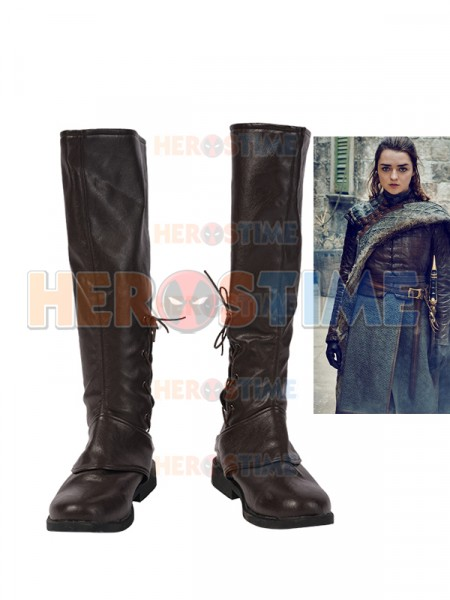 Game of Thrones Season 8 Arya Stark Cosplay Boots