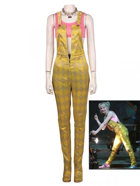 Aves de Presa Disfraz Rosa & Dorado de Harley Quinn Conjunto Completo