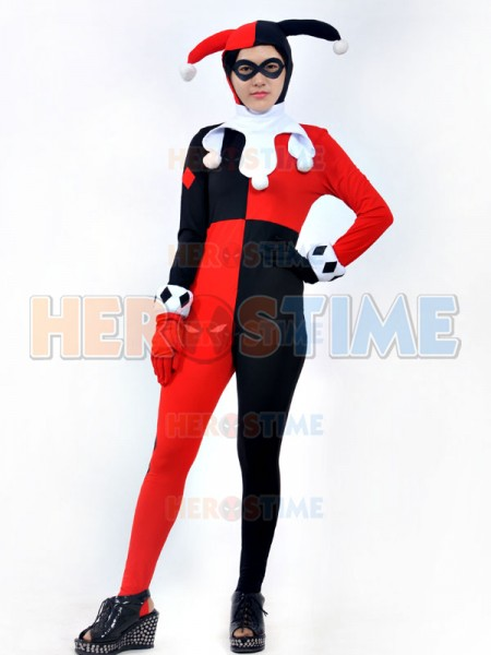 Harley Quinn Girls Super Villain Cosplay Costume