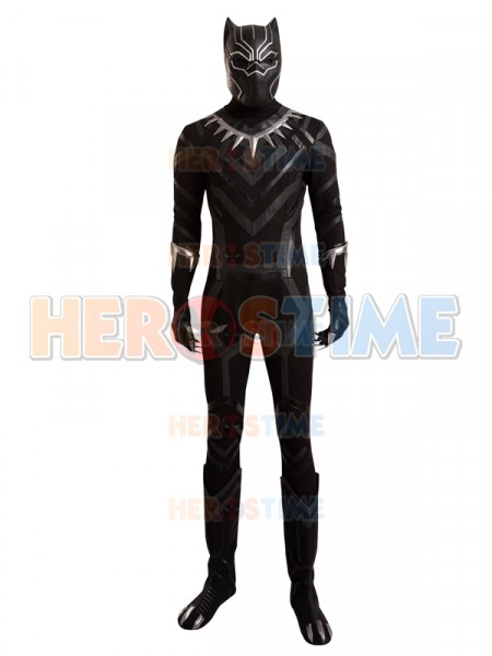 Captain America: Civil War  Traje Completo de Black Panther Cosplay