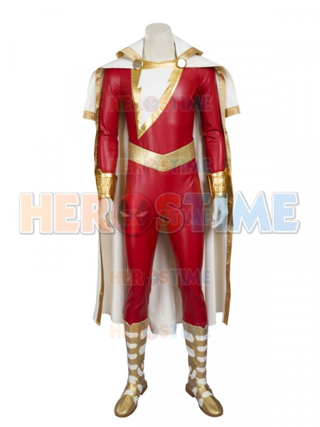 Captain-Marvel Shazam Superhero Costume