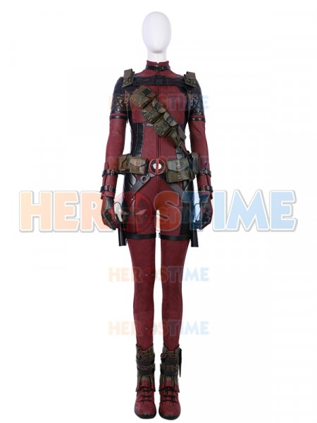 2018 Último Traje Lujoso de Lady Deadpool Cosplay