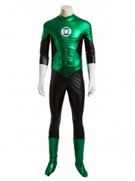 Green Lantern Shiny Superhero Cosplay Costume