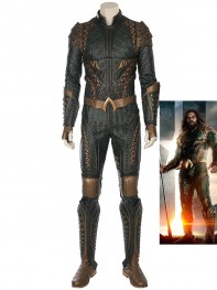 Superhero Film Justice League Aquaman Cosplay Costume