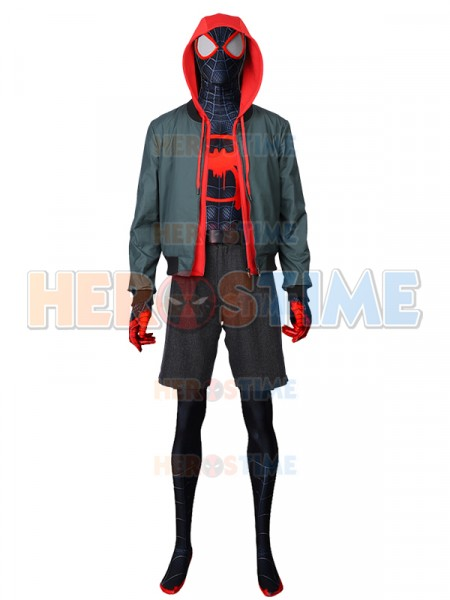 Into the Spider-Verse  Traje Lujoso de Spiderman Miles Morales Cosplay