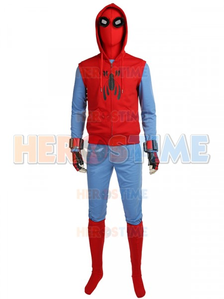 Spiderman Homecoming  Traje de Peter Parker en Sudadera con capucha