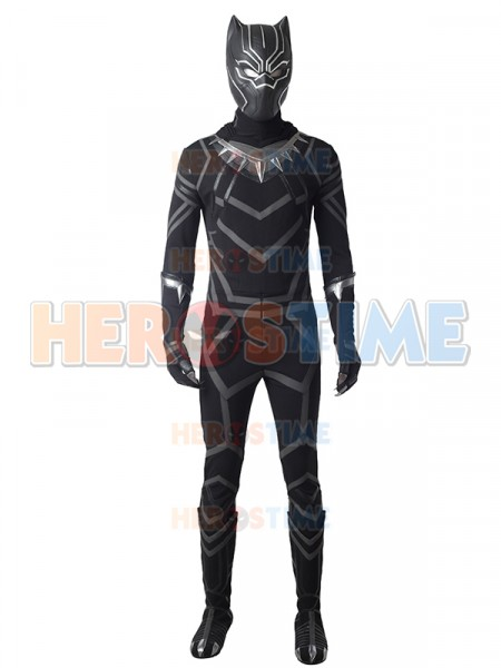 2018 Black Panther  Traje Lujoso de Black Panther Cosplay
