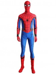 Spider-Man Homecoming Suit Leather Stripes Costume