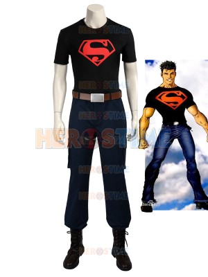 Young Justice Superboy Boy Superhero Cosplay Costume
